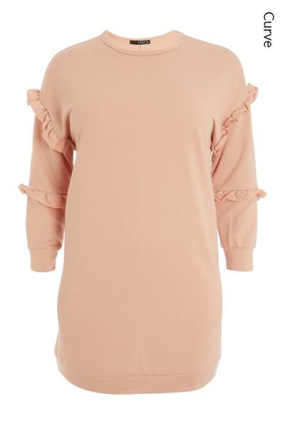 Curve Pink Jumper Dress